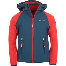 TROLLKIDS Rondane XT Zip Off Jacket Kids bright red/mystic blue